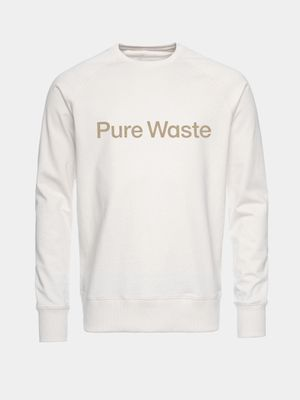 Pure Waste Sweatshirt, Ecru